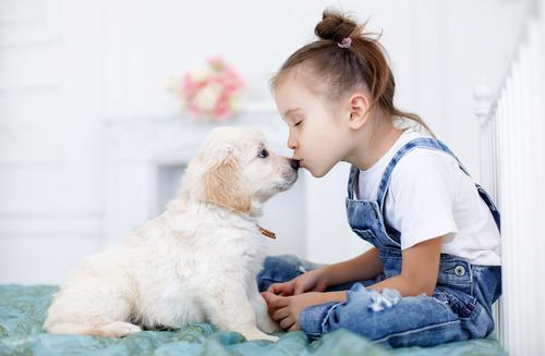 child with puppy shutterstock 503609692