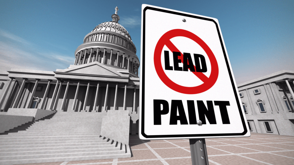 No lead paint capitol sign custom 19679